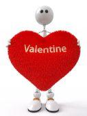 Fun 3d Valentine — Stock Photo