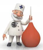 The doctor with an enema — Stock Photo