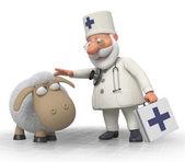 3d doctor veterinarian — Stock Photo