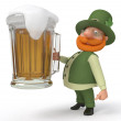 Saint Patrick with beer — Stock Photo #66002763