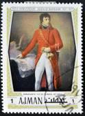 AJMAN - CIRCA 1971: Stamp printed in Ajamn shows Napoleon Bonaparte by Gros, circa 1971 — Stock Photo