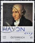 AUSTRIA - CIRCA 2009: A stamp printed in Austria shows Joseph Haydn, circa 2009 — Stock Photo
