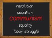 Communism written on a blackboard — Stock Photo