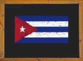 Cuba flag on a blackboard — Stock Photo