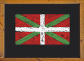 The flag of the autonomous community of the Basque Country on a blackboard — Stock Photo