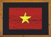 Vietnam flag on a blackboard — Stock Photo