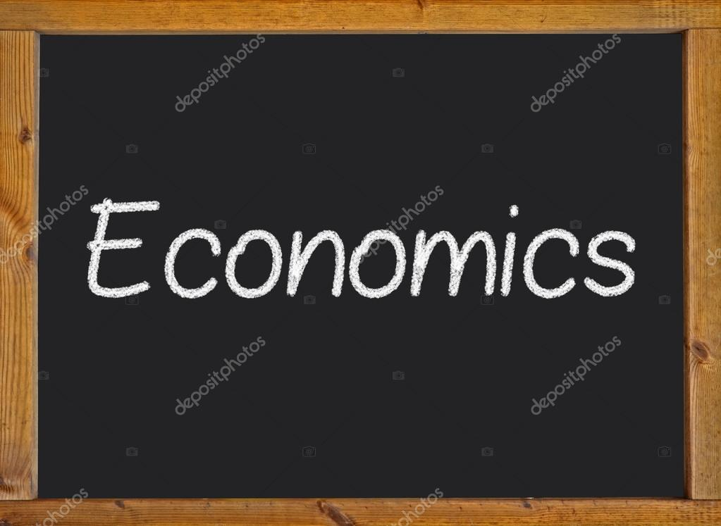 depositphotos_56997681 stock photo economics written on a blackboard