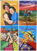 NEW ZEALAND- CIRCA 1998: stamps printed in New Zealand dedicated to stay in touch, — Stock Photo