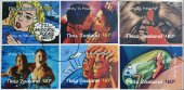 NEW ZEALAND- CIRCA 1998: stamps printed in New Zealand dedicated to stay in touch, circa 1998 — Stock Photo