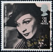 UNITED KINGDOM - CIRCA 1985: stamp printed in  UK shows Vivien Leigh by photographer Angus McBean, circa 1985 — Stock Photo