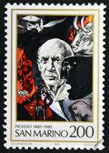 SAN MARINO - CIRCA 1981: A stamp printed in San Marino shows Birth Centenary of Pablo Picasso (1881-1973), artist, circa 1981 — Stock Photo