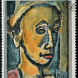 ������, ������: FRANCE CIRCA 1971: A stamp printed in France shows painting The Dreamer by French Fauvist and Expressionist painter Georges Henri Rouault circa 1971