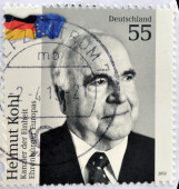 GERMANY - CIRCA 2012: A stamp printed in Germany shows Helmut Kohl - Chancellor of the unity, circa 2012 — Stock fotografie
