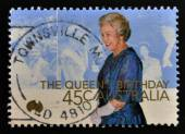 AUSTRALIA - CIRCA 2000: A stamp printed in Australia shows queen,s birthday, circa 2000 — Stock Photo