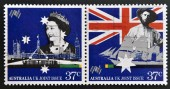 AUSTRALIA - CIRCA 1988: stamps printed in Australia dedicated to  Australia Bicentennial, circa 1988 — Stock Photo