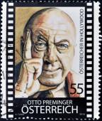 AUSTRIA - CIRCA 2010: Stamp printed in Austria shows Otto Preminger, circa 2010 — ストック写真