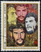 CUBA - CIRCA 1977: A Stamp Shows Image Ernesto Che Guevara and Dedicated to the 10th Anniversary of the Day of the Heroic Guerrilla, circa 1977 — Stock Photo