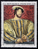 FRANCE - 1967: A stamp printed in France shows image of French Art, Francois I (after Jean Clouet), circa 1967 — Stock Photo