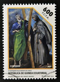 EQUATORIAL GUINEA - CIRCA 2014: Stamp printed in Guinea dedicated to El Greco, circa 2014 — Stock Photo