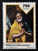 EQUATORIAL GUINEA - CIRCA 2014: Stamp printed in Guinea dedicated to El Greco, circa 2014 — Stock fotografie