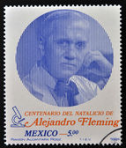 MEXICO - CIRCA 1981: stamp printed in Mexico, shows famous medical specialist, penicillin founder Alex Fleming, circa 1981. — Stock Photo