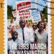 UNITED STATES OF AMERICA - CIRCA 2013: A stamp printed in USA shows the 1963 march on Washington, circa 2013 — Stock Photo #70056881