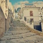 Road up to the neighborhood of albaicín in Granada — Stock Photo #70057921