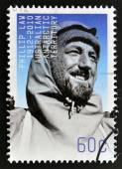 AUSTRALIA - CIRCA 2012: A stamp printed in Australian Antarctic Territory shows Phillip Law, circa 2012 — Stock Photo