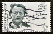 FRANCE - CIRCA 1996: a stamp printed in the France shows Andre Malraux, Writer, Minister for Cultural Affairs, circa 1996 — Stock Photo