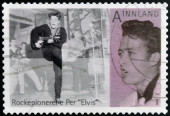 NORWAY - CIRCA 2009: A stamp printed in Norway shows Per Elvis Granberg, circa 2009 — Stock Photo