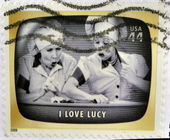 UNITED STATES OF AMERICA - CIRCA 2009: A stamp printed in USA Celebrates Classic TV shows I love Lucy, circa 2009 — Stock Photo