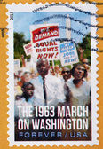 UNITED STATES OF AMERICA - CIRCA 2013: A stamp printed in USA shows the 1963 march on Washington, circa 2013 — Stock Photo