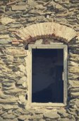 Window of an abandoned house — Stock Photo