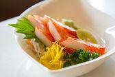 Kani Sashimi Kani Sashimi.,Imitation crabmeat. — Stock Photo