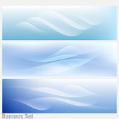 Perfect Banners Set of 3 Vector Backgrounds Pastels Light Lines — Stock Vector