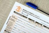 Italian 730 tax form, empty spaces. 2015 edition — Stock Photo
