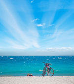 Bicycles on the sand — Stock Photo