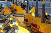 Bumper cars rows — Stock Photo