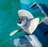 Outboard blades — Stock Photo