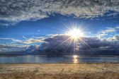 Hdr pôr do sol — Fotografia Stock