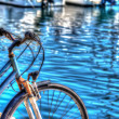 Hdr bicycle by the sea in Alghero — Stock Photo #56599271