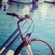 Vintage bicycle by the sea in Alghero  — Stock Photo #56599285