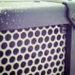 Close up of a guitar amplifier grill in vintage tone — Stock Photo #56599875
