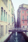 Vintage canal in Venice — Stock Photo
