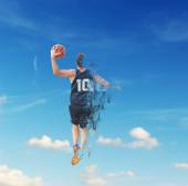 Player with dispersion — Stock Photo
