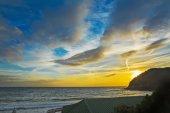 Poglina beach at dusk — Stockfoto