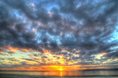 Colorful sunset in Alghero in hdr — 图库照片