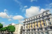 Clouds over Via Roma, Cagliari — Stock Photo