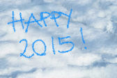 Happy 2015 written in the snow — Stock Photo