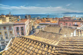 Old roofs in Cagliari, Italy — 图库照片